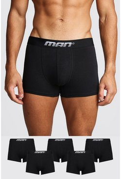 Mens Black 5 Pack MAN Gradient Trunk