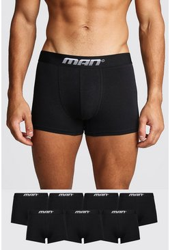 Mens Black 7 Pack MAN Gradient Trunk