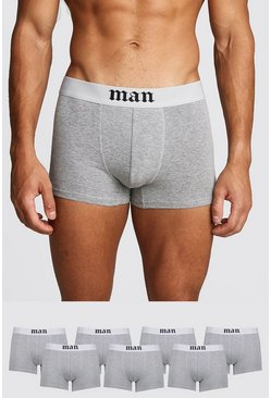 Grey marl 7 Pack Gothic MAN Boxers