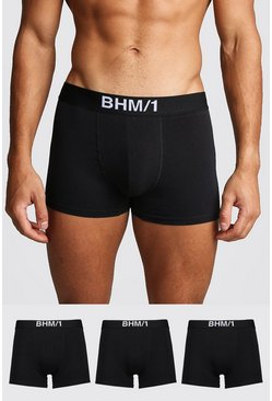 Black 3 Pack BHM Trunk