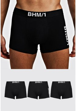 Black 3 Pack BHM Mixed Trunk