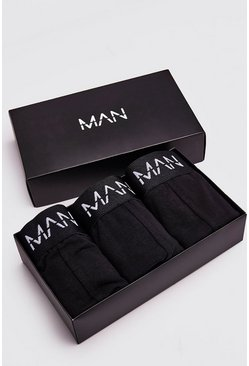 3 Pack MAN Dash Trunk Giftset, Black