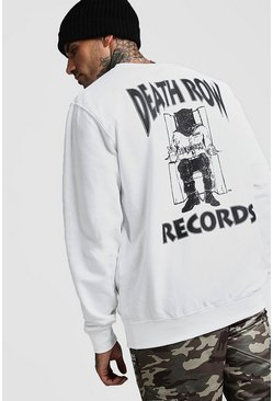 White Death Row Records License Sweatshirt