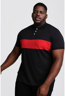 Polo en jersey colorblock bog and tall, Noir, Homme