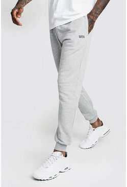 Mens Grey Original MAN Slim Fit Jogger