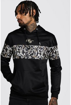 Herr Black B&M OTH Tricot Hoodie With Baroque Panels