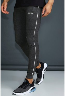 Charcoal MAN Active Joggers With Zip Pockets And Reflective