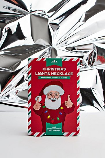 Mens Multi Christmas Lights Necklace