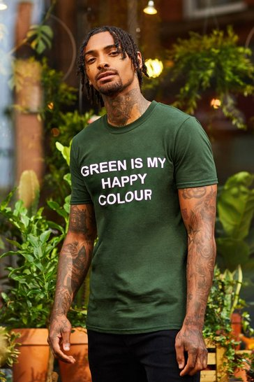 Mens Green My Happy Colour Charity T-Shirt