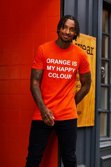 Mens Orange My Happy Colour Charity T-Shirt