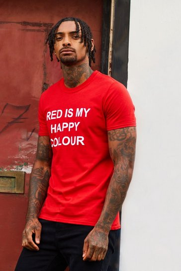 Mens Red My Happy Colour Charity T-Shirt