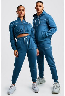 Hers Funnel Zip & Jogger Tracksuit Set, Petrol