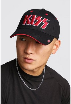 Mens Black Kiss License Cap