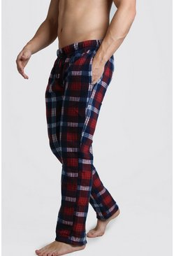 Check Polar Fleece Lounge Pant, Red