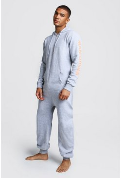 Grey MAN Official Onesie