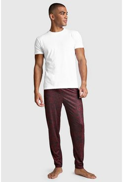 Paisley Print Lounge Set, Burgundy