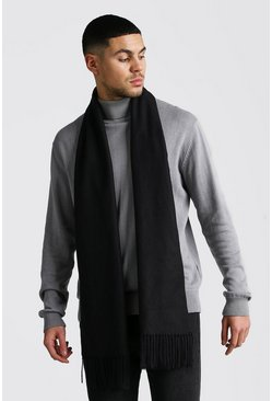 Black Soft Brushed Scarf