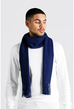 Soft Brushed Scarf, Navy