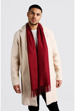 Soft Brushed Scarf, Burgundy
