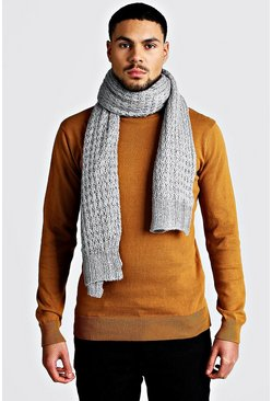 Knitted Scarf, Grey