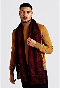 Burgundy Knitted Scarf