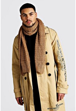 Knitted Scarf, Camel