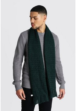 Herr Dark green Knitted Scarf