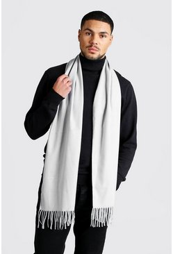 Light grey Soft Brushed Scarf
