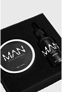 Black MAN Beard Oil And Balm Set