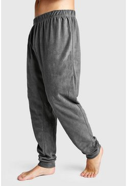 Marl Fleece Cuffed Lounge Pants, Grey, HOMBRE