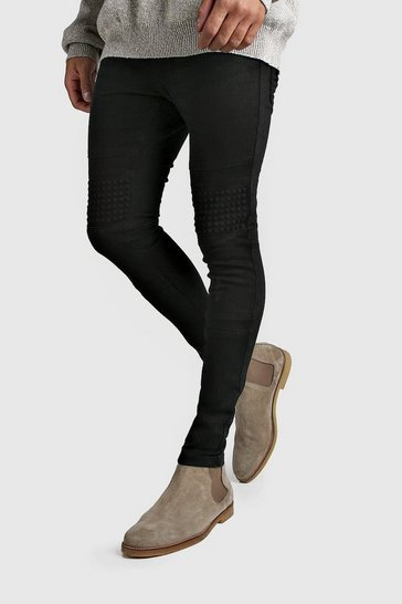 Charcoal Washed Skinny Fit Jeans With Stud Detail