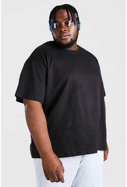 Big And Tall Loose Fit Basic T-Shirt, Black
