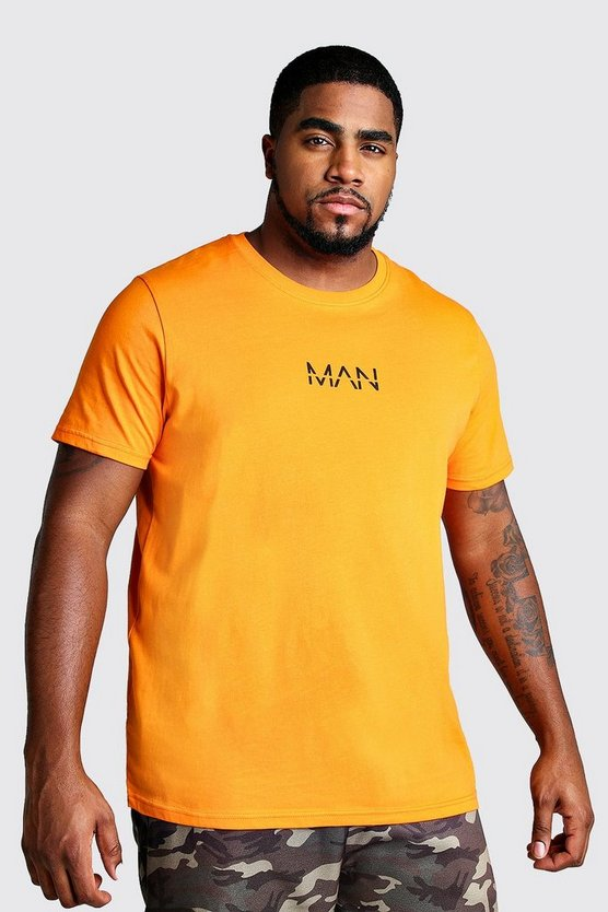 Orange Big And Tall MAN Dash T-Shirt