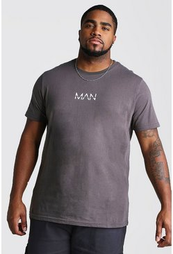 Mens Charcoal Big And Tall MAN Dash T-Shirt