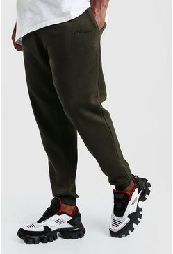 Herr Khaki Big And Tall MAN Script Skinny Fit Jogger