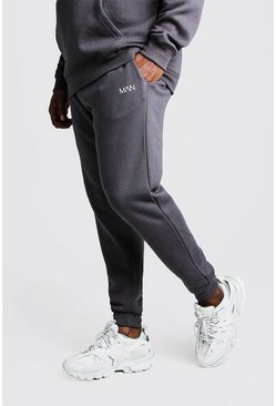 Mens Charcoal Big And Tall MAN Dash Skinny Fit Jogger