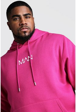 Big And Tall MAN Dash Hoodie, Pink