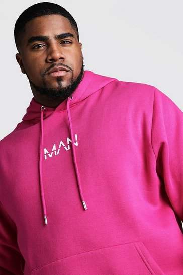 Pink Big And Tall MAN Dash Hoodie