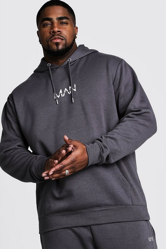 Charcoal Big And Tall MAN Dash Hoodie