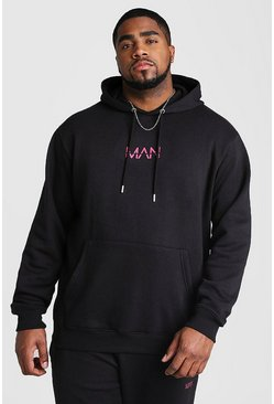 Herr Black Big And Tall MAN Dash Hoodie