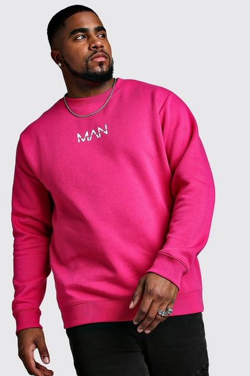 Pink Big And Tall MAN Dash Sweater