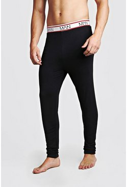 MAN Dash Sport Megging, Black, HERREN