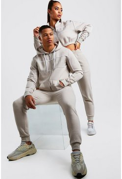Mens Stone His Zip Hooded Tracksuit With Piping