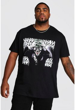 Big And Tall Joker License T-Shirt, Black, МУЖСКОЕ