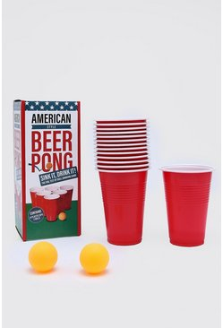 Beer Pong Game, Red, HERREN