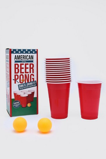 Mens Red Beer Pong Game