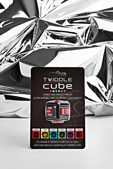 Mens Red Twiddle Cube
