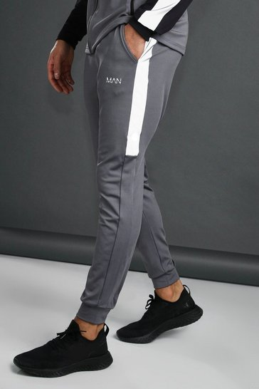 Charcoal MAN Tapered Jogger With Reflective Panel