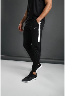 MAN Poly Skinny Jogger With Reflective Detail, Black