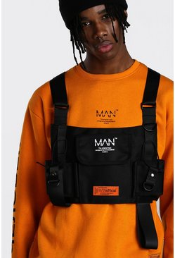 MAN Utility Tactical Rig Vest With Hardware, Black